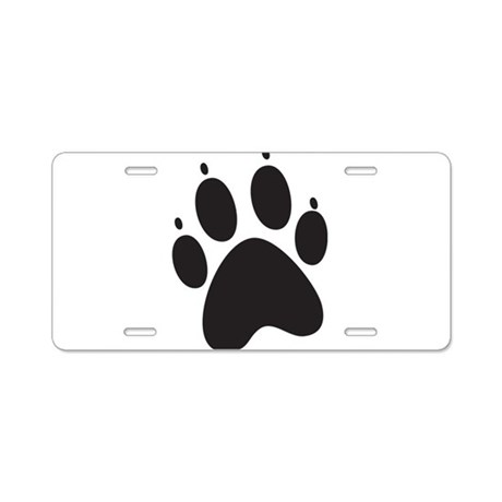Paw Print Aluminum License Plate by AwesomeGiftIdeas