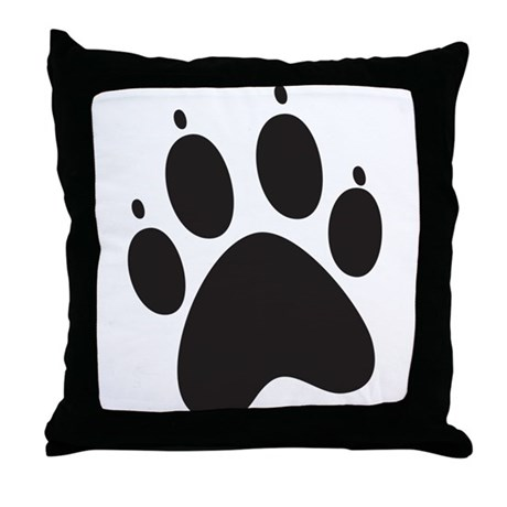 Paw Print Throw Pillow
