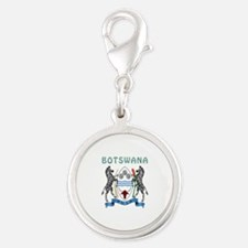 Botswana Coat of arms Silver Round Charm