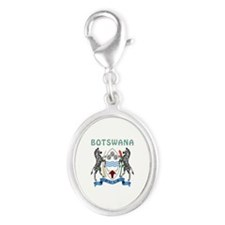 Botswana Coat of arms Silver Oval Charm