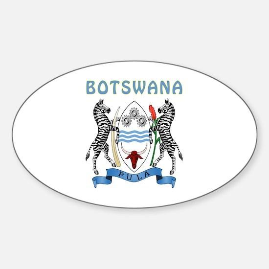 Botswana Coat of arms Sticker (Oval)