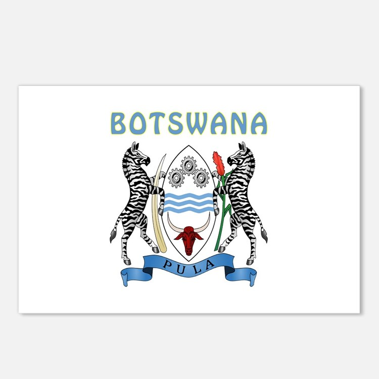 Botswana Coat of arms Postcards (Package of 8)