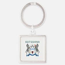 Botswana Coat of arms Square Keychain