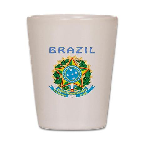 Brazil Coat of arms Shot Glass