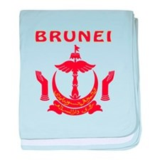 Brunei Coat of arms baby blanket