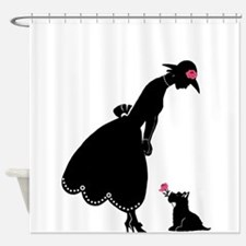 Scottie and Rose Shower Curtain