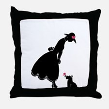 Scottie and Rose Throw Pillow
