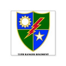 75th Ranger Regimental Crest Rectangle Sticker