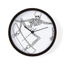 Skater Skeleton Wall Clock