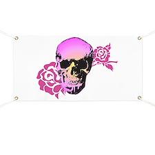 Skull and Roses Banner
