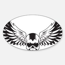 Skull + Wings Decal