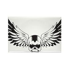Skull + Wings Rectangle Magnet