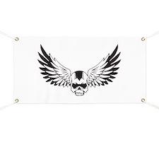 Skull + Wings Banner