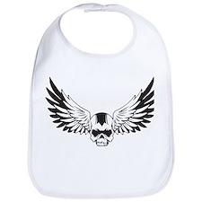 Skull + Wings Bib
