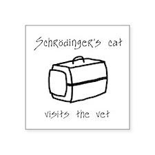 "Schrodingers Cat Carrier Square Sticker 3"" x 3"""