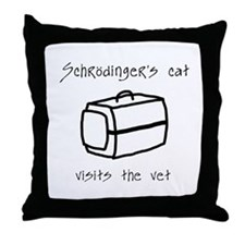 Schrodingers Cat Carrier Throw Pillow