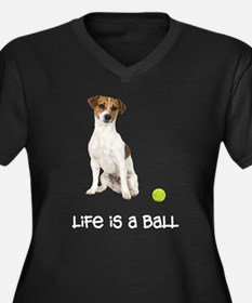 Jack Russell Terrier Life Women's Plus Size V-Neck