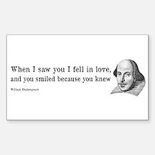 Shakespeare on Love (Hamlet) Decal