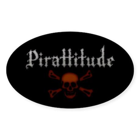 Pirate Attitude Pirattitude Oval Sticker