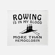 Rowing Designs Throw Blanket