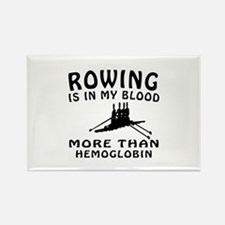 Rowing Designs Rectangle Magnet