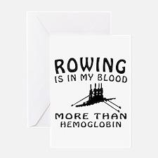 Rowing Designs Greeting Card