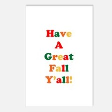 Have A Great Fall Y'all! Postcards (Package of 8)