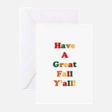 Have A Great Fall Y'all! Greeting Cards (Package o