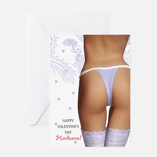 Sexy Adult Valentine's Day Greeting Card, Lady In