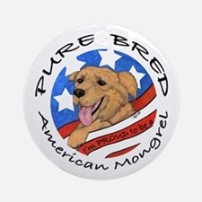 American Mongrel Ornament (Round)