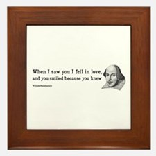 Shakespeare on Love (Hamlet) Framed Tile