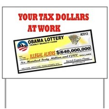 OBAMA LOTTERY Yard Sign