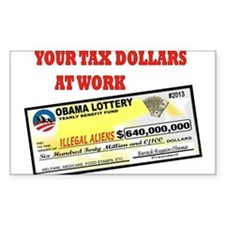 OBAMA LOTTERY Decal