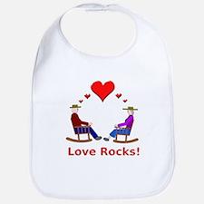 Love Rocks Hearts Bib