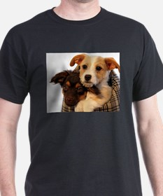 Puppies in a carrier T-Shirt