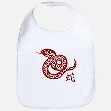 Ornate Red Chinese Snake Bib