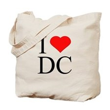 I Love DC Tote Bag