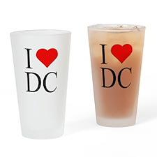 I Love DC Drinking Glass