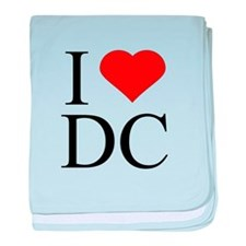 I Love DC baby blanket