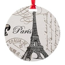 Vintage Eiffel Tower Ornament