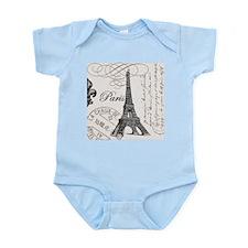 Vintage Eiffel Tower Onesie