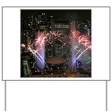 Fireworks 1 Yard Sign