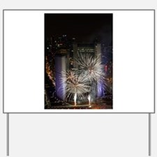 Fireworks 2 Yard Sign