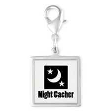 Night Cacher Silver Square Charm