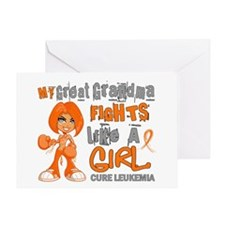 Fights Like a Girl 42.9 Leukemia Greeting Card