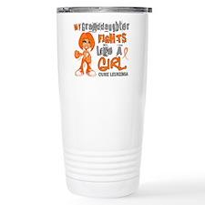 Fights Like a Girl 42.9 Leukemia Travel Mug