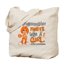 Fights Like a Girl 42.9 Leukemia Tote Bag