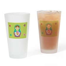 Cute Russia doll Drinking Glass