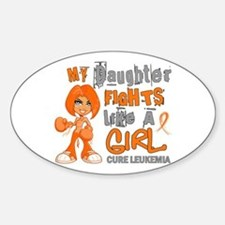 Licensed Fight Like a Girl 42.9 Leu Sticker (Oval)