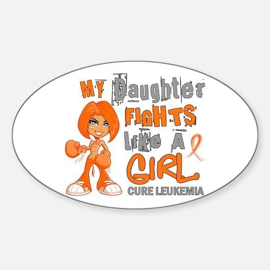 Licensed Fight Like a Girl 42.9 Leu Sticker (Oval)